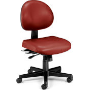 Vinyl 24 Hour Computer Task Chair - Wine