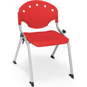 "OFM Rico 14""H Armless Stack Chair, Red - Pkg Qty 4"