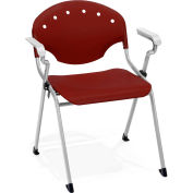Stack Chair With Arms - Burgundy - Pkg Qty 4