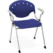 Stack Chair With Arms - Navy - Pkg Qty 4