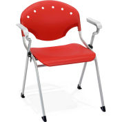 Stack Chair With Arms - Red - Pkg Qty 4