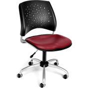 OFM Stars Vinyl Swivel Chair, Wine