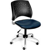 OFM Stars Vinyl Swivel Chair, Navy