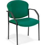 Vinyl Guest/Reception Chair 4 Legs - Teal