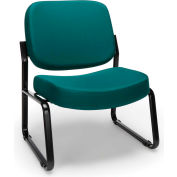 Big & Tall Armless Guest/Reception Chair Teal