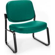 Big & Tall Armless Vinyl Guest/Reception Chair Teal