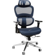OFM Core Collection Ergo Office Chair featuring Mesh Back and Seat with Head Rest - Blue