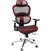 OFM Core Collection Ergo Office Chair featuring Mesh Back and Seat with Head Rest - Burgundy