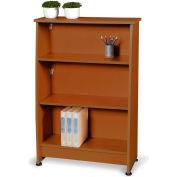 Milano Series - Wood Bookcase 3 Shelf - Cherry