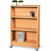 Milano Series - Wood Bookcase 3 Shelf - Maple