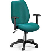 Ergo Conf/Man Chair W/Adj Arms -Teal