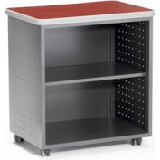 OFM Mesa Series Wheeled Mobile Utility Station with Shelf and Laminate Top, Cherry Finish