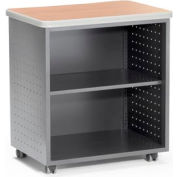 OFM Mesa Series Wheeled Mobile Utility Station with Shelf and Laminate Top, Maple Finish