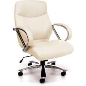 OFM Avenger Series Big & Tall Executive Mid-Back Chair, Cream