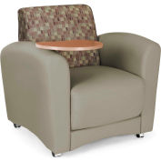 Interplay Single Tablet Chair Plum Back, Taupe Seat, Bronze Tablet