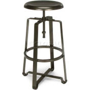 OFM Endure Series Stationary Tall Stool, Dark Vein Metal Seat and Frame