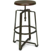 Endure Tall Stool W/Walnut Wooden Seat, Walnut/Dark Vein