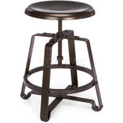 Endure Short Stool W/Metal Seat, Dark Vein/Dark Vein