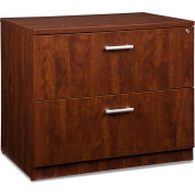 OFM Locking Lateral File Cabinet - 2 Drawer Filing Cabinet - Cherry - Fulcrum Series