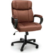 Essentials by OFM ESS-3082 Plush Microfiber Office Chair, Brown