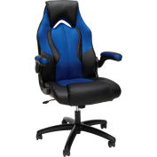 Essentials by OFM ESS-3086 High-Back Racing Style Leather Gaming Chair, Blue