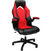Essentials by OFM ESS-3086 High-Back Racing Style Leather Gaming Chair, Red