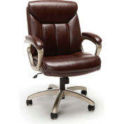 Essentials by OFM ESS-6020 Executive Office Chair, Brown with Champagne Frame
