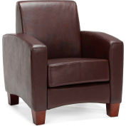 Essentials by OFM ESS-9050 Traditional Reception Arm Chair, Brown