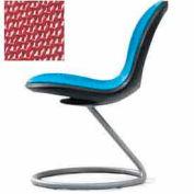 Net Circular Base Chair - Red - Pkg Qty 2