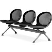 OFM NET Series 3-Unit Beam Seating with 3 Seats, Black