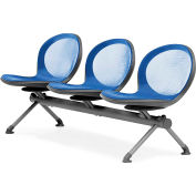 OFM NET Series 3-Unit Beam Seating with 3 Seats, Marine