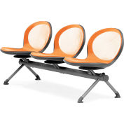 OFM NET Series 3-Unit Beam Seating with 3 Seats, Orange