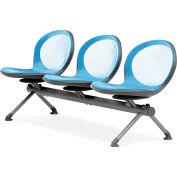 NET Series Beam with 3 Seats - Sky Blue