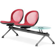 NET Series Beam with 2 Seats and 1 Table - Red