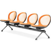 OFM NET Series 4-Unit Beam Seating with 4 Seats, Orange
