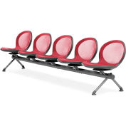 NET Series Beam with 5 Seats - Red