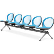 NET Series Beam with 5 Seats - Sky Blue