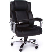 OFM Big & Tall Tablet Chair Black Bonded Leather