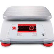 "Ohaus Valor 2000 Compact Bench Digital Scale 30lb x 0.005lb 7-1/2"" x 9-1/2"" Platform"