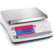 "Ohaus® V11P15 AM Compact Bench/Food Digital Scale 33lb x 0.01lb 9-7/8"" x 7-1/8"" Platform"