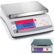 "Ohaus V11P15T AM Compact Bench/Food Dual Display Digital Scale 33lb x 0.01lb 9-7/8"" x 7-1/8"""