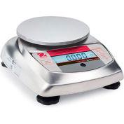 "Ohaus V31XH402 AM Compact Bench/Food Digital Scale 400g x 0.01g 4-11/16"" Diameter Platform"