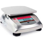 "Ohaus V31XW6 AM Compact Bench/Food Washdown Digital Scale 13.23 lb x 0.005 lb, 5-13/16"" x 6-3/16"""