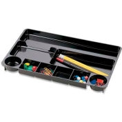 """Officemate Desk Drawer Organizer Tray with 9 Compartments 15-1/2"""" x 9"""" Black"""