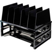 Officemate Desk Sorter with 2 Trays Black