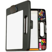 "Officemate® Portable Clipboard Box 2-3/8"" x 12"" Charcoal"