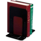 """Officemate®Non-Skid Bookends 9-5/16"""" High Black 2 Pack"""