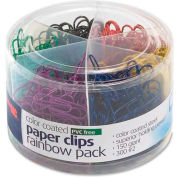 Officemate® Metallic Color Coated Paper Clips Assorted Sizes Assorted 450/Pack