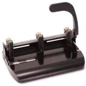Officemate® Heavy-Duty Adjustable 3-Hole Punch, 32 Sheet Capacity, Black
