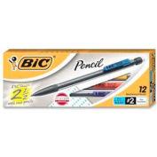 Bic® Mechanical Pencil, Non-Refillable, 0.5mm, Clear Barrel, Dozen